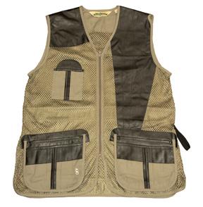 Bob Allen Bob Allen All Mesh Amp Leather Shooting Vest