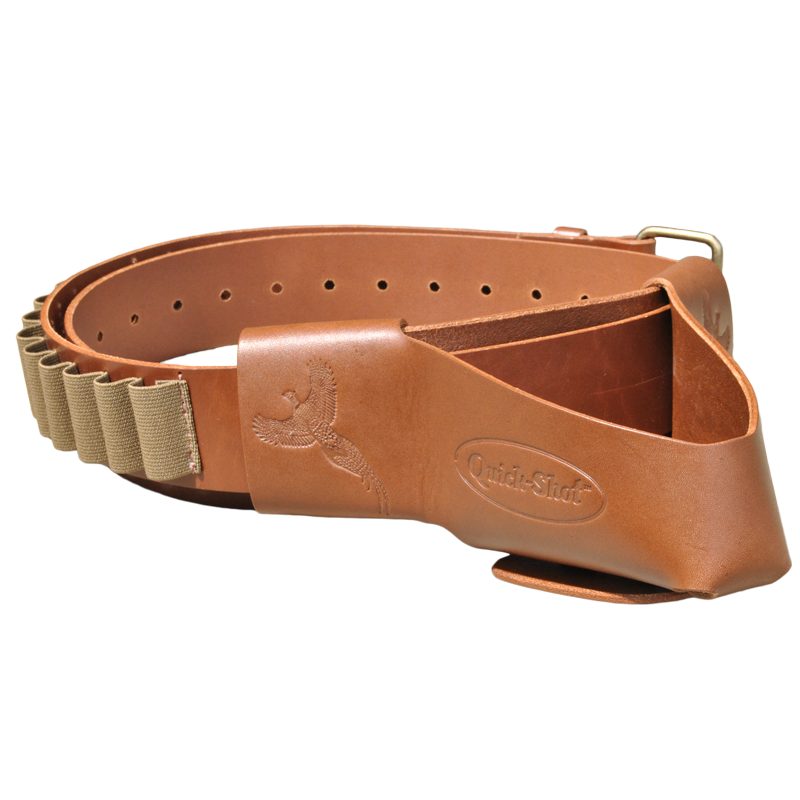 Quick-Shot Leather Shotgun Holster shotgun holster, shotgun caddy, shotgun rest, rifle holster, premium leather, made in the USA
