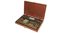 OUTERS 32PC Universal Cleaning Kit in Wood Box Outers, cleaning kit, gun cleaning, gun maintenance, wood box