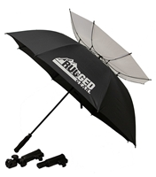 Rugged Gear Wind Resistant Umbrella With Holder & Extension