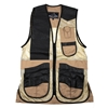 Wild Hare Range Vest Leather and Mesh  -- Khaki and Black