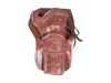 "Western Justice Hand-Tooled Leather Holster, 6"", Mahogany, Right Hand"